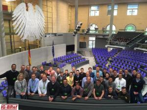 Ein Besuch im Bundestag war selbstverständlich auch Teil unserer Zeit in Berlin