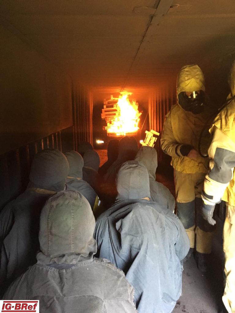 Heißausbildung auf der Feuer- und Rettugswache I in Bochum-Wattenscheid