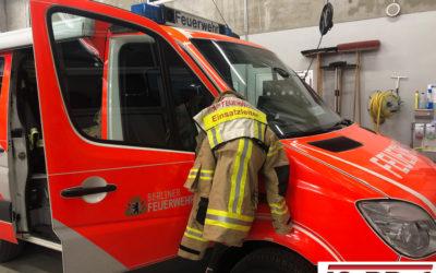 Zugführerabschnitt bei der Berliner Feuerwehr