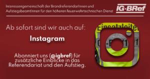 Die IG-BRef jetzt auf Instagram
