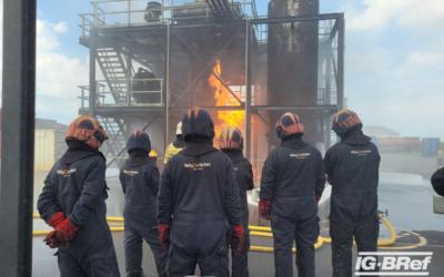 Industriebrandbekämpfung bei der RelyOn Nutec Fire Academy in Rotterdam